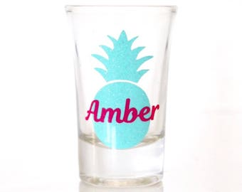 Pineapple Shot Glass - Pineapple Bachelorette Party - Bachelorette Party Shot Glasses - Personalized Shot Glass - Bridal Party Gifts