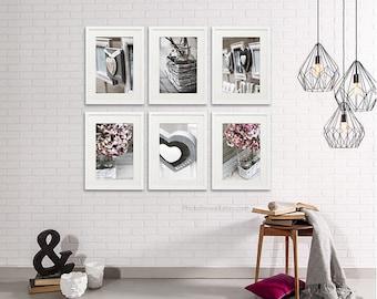 Hydrangea Love Bathroom wall Decor/Set of 6 prints/newborn girls room decor/nursery decor/Bathroom art/bathroom wall art/large wall art