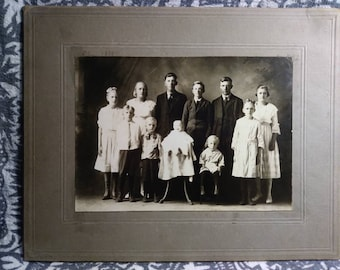 Late 1800s family photograph