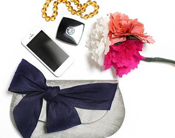Bow Clutch. Envelope Clutch. Foldover Clutch. Gift for Her. Silk Purse. Bridesmaid Ask. Bridesmaid Proposal. Wedding Clutch. Clutch Purse.