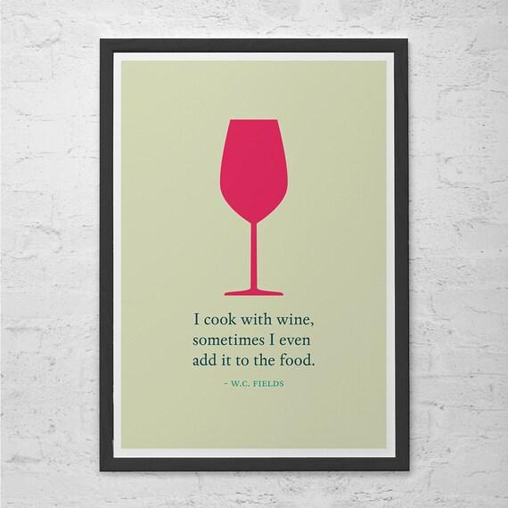 Vin affiche devis w c fields cuisine murale art pop art - Poster cuisine moderne ...