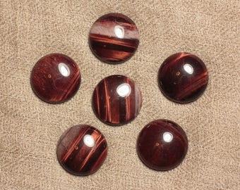 1pc - Cabochon stone - Bull's eye - round 20mm 4558550030825