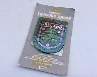 Vintage 1970s era Ireland Souvenir Fabric Sew on Patch