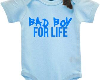 Bad Boy For Life Babygrow Vest Top Cute EBG79