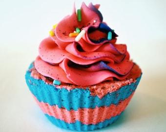 Cotton Candy Cupcake Bath Bomb