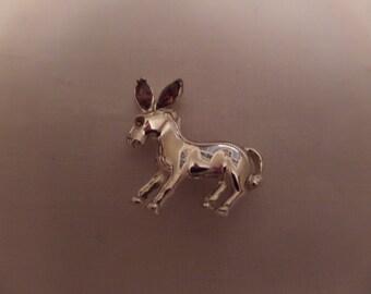 Cute Donkey Pin with Pink Rhinestone