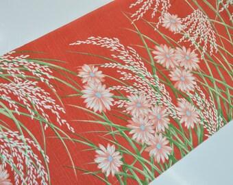Japanese Jinken Kimono Bolt - Lovely Chrysanthemum  Ear of Ricee - E63