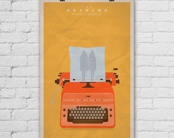 The Shining Poster. Stanley Kubrick Poster. Jack Nicholson Poster. Movie Art Print. Pop Culture and Modern Home Decor Poster. Item No. 295