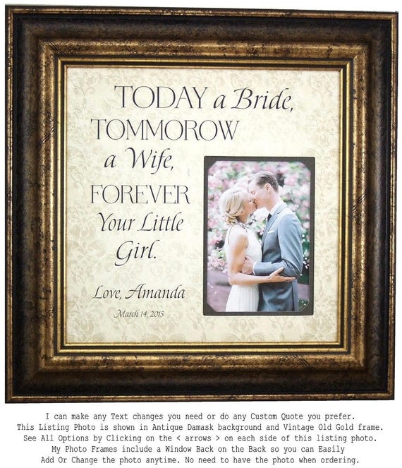 Father of the Bride Gift Personalized Wedding Gift for Dad