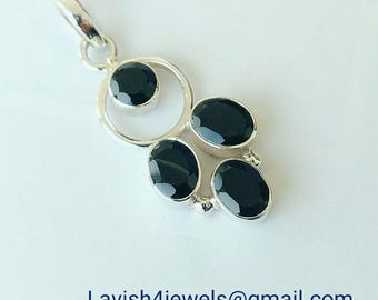 Onyx stone with sterling silver Ring