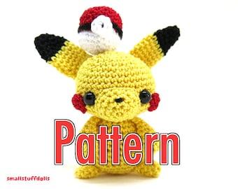 Pikachu Pattern x Mini Amigurumi Crochet Pattern Digital Download