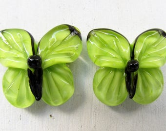 Butterfly lampwork beads, 1 pc lampwork beads, handmade lampwork beads, butterfly glass beads, lampwork insect beads, artisan glass beads