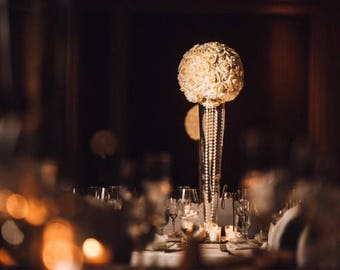Real Touch Rose Kissing Ball, flower balls, Pomander ball, Cream & White ball, Rose Ball, Centerpiece balls, Foam Flower Ball.