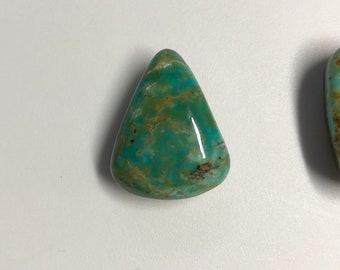 Blue Gem Turquoise Cabochon! Battle Mountain Mine, NV. 21x20x7mm.