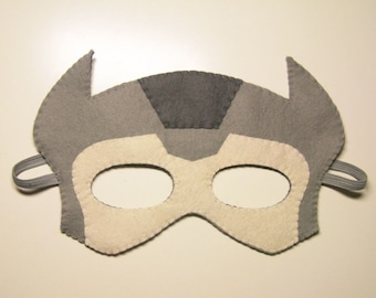 Thor Superhero felt mask - Grey mask - kids superhero costume - adults boys soft felt Dress up play accessory - photo prop