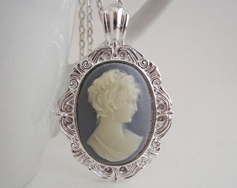 Lady Cameo Pendant with Free Vintage Styled Necklace