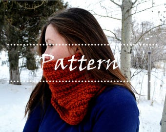 The Yellowstone Cowl Knitting Pattern / Chunky Knit Cowl / Knit Cowl / Cowl Scarf