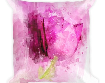 Pink Tulip -  Square Pillow