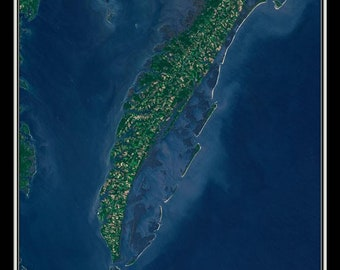 Eastern Shore Of Virginia Satellite Poster Map