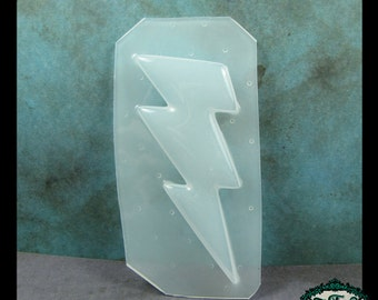 resin MOLD large LIGHTNING BOLT 70x38mm also for polymer clay, pmc, plaster, soaps, and candles