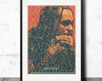 Post Malone - Congratulations - Stoney Lyric Poster Print - A4 Limited Edition