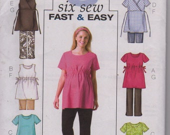 Butterick 4201,Maternity tunic top/pants/shorts,Petite Misses 8-10-12,Sewing Pattern,Women