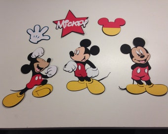 Set of 6 Mickey Mouse die cuts