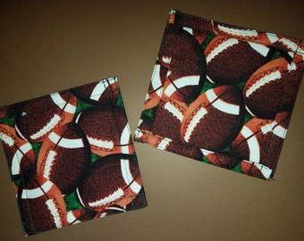 Football quilted coasters, sports coasters