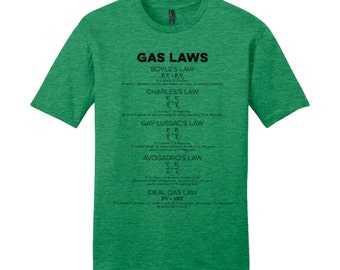 Science Shirt Science TShirt Gas Laws Mens Shirts Nerdy TShirt Teacher Shirts for Teachers Chemistry Teacher Gifts New Teacher Gifts Fun