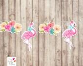 Flamingo & Flowers Garlan...