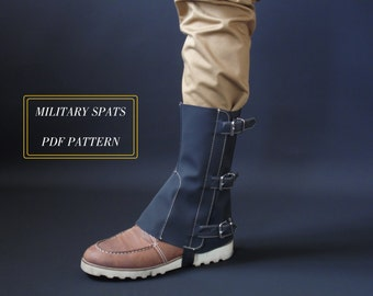 military spats pattern and tutorial
