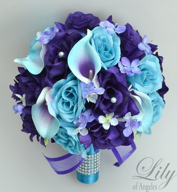 Wedding Bouquet Bridesmaid Bouquet Wedding Flowers Silk