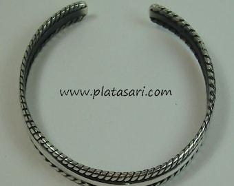 Rigida oxidized silver bracelet.