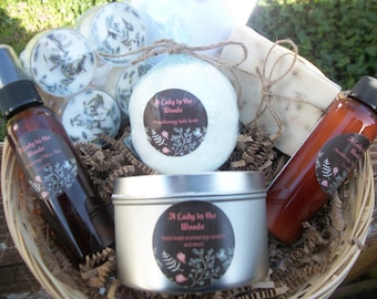 Aromatherapy Spa kit-basket-set-spa gift set-gift for mom-candle gift set-relaxation gift set-bridesmaid gift-mother's day gift-sister gift