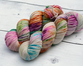 Never Trust the Living {Theurgic} -  90/10  Superwash Targhee - Nylon - 465 Yards - 115 Grams - Speckled Sock Yarn - 100% Product of USA