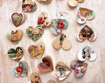 Primitive Valentine, Valentines day decor, Valentines, Valentines day, Valentine decor, Valentine garland, Heart garland, Be my Valentine