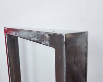 Brushed iron table top