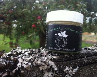 Salve. Healing for cracked lips,hands,cuts,scrapes,feet,elbows,bruises,cracked nipples