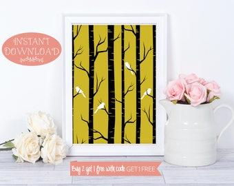 Printable Wall Art, Wall Art Print, Tree Wall Art, Tree Print, Printable, Art Prints, Digital Prints, Modern Art, Prints, Instant Download