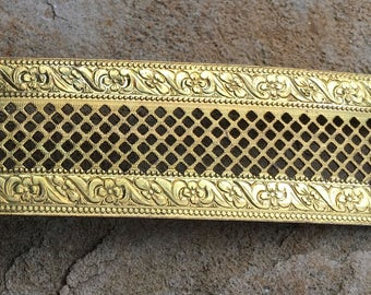 """Lamp Banding Brass 1"""" Floral Pattern and Pierced Texture for Rolling Mill"""