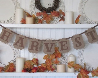 HARVEST Banner for Autumn and Thanksgiving