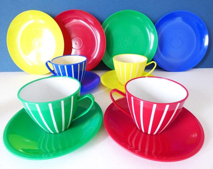 Plastic Tea set Picnic set Vintage Retro Welware