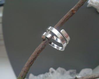 Sterling Silver Handmade Ring. Slightly Adjustable Ring. Fair Trade Ring. Silver Band Ring.