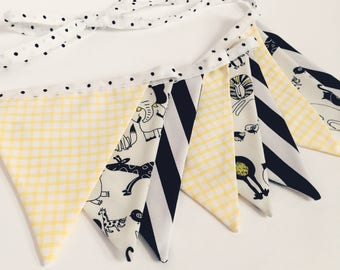 Black and White Bunting - vlaggetjes - Children's bunting - vlaggenslinger - geboorteslinger - Birthday Garland - Verjaardagsslinger