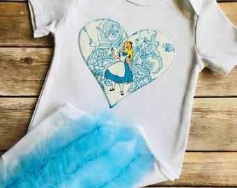 Alice In Wonderland Ruffle Bottom Baby Toddler Girls