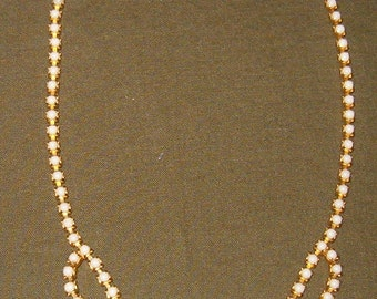 Vintage Milk Glass Tiered Necklace