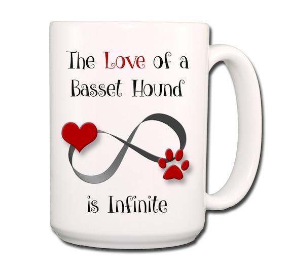 Basset Hound Infinite Love Large 15 oz Ceramic Coffee Mug