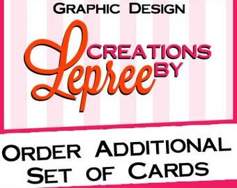 Order an Additonal Set of 5 Cards