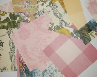 Anna Griffin Paper Kit Scrapbook Paper Cardmaking Paper Kit Vintage Style Papers Journal Craft Supplies