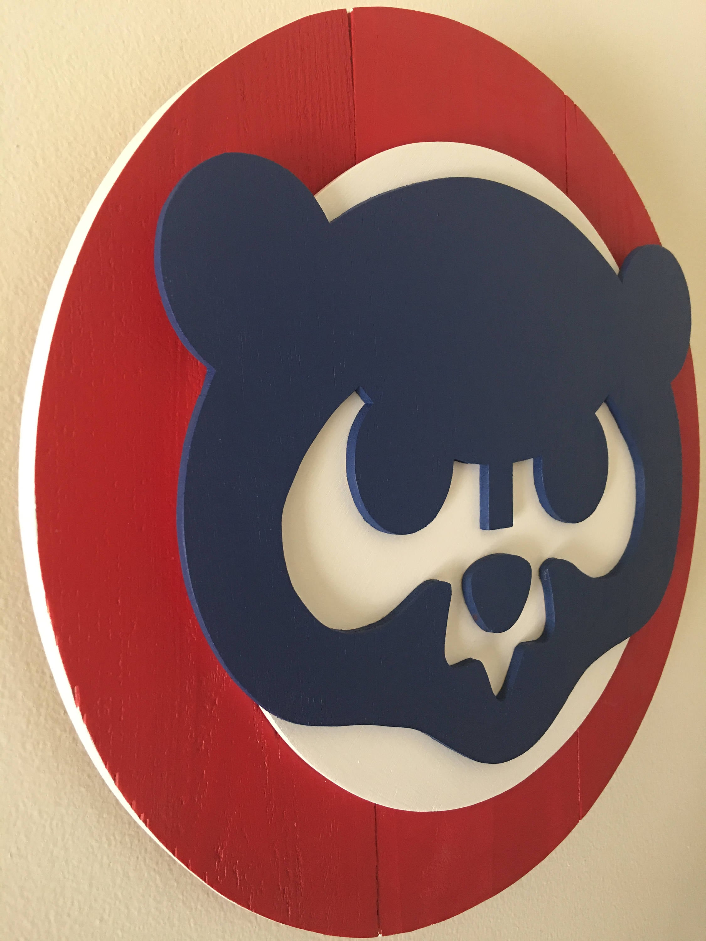 3d vintage chicago cubs wooden logo cubnation series 2 of 3 zoom buycottarizona